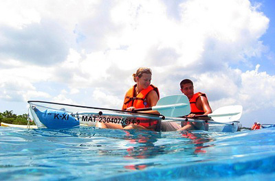 Clear Bottom Kayak & Deluxe Snorkel Cruise